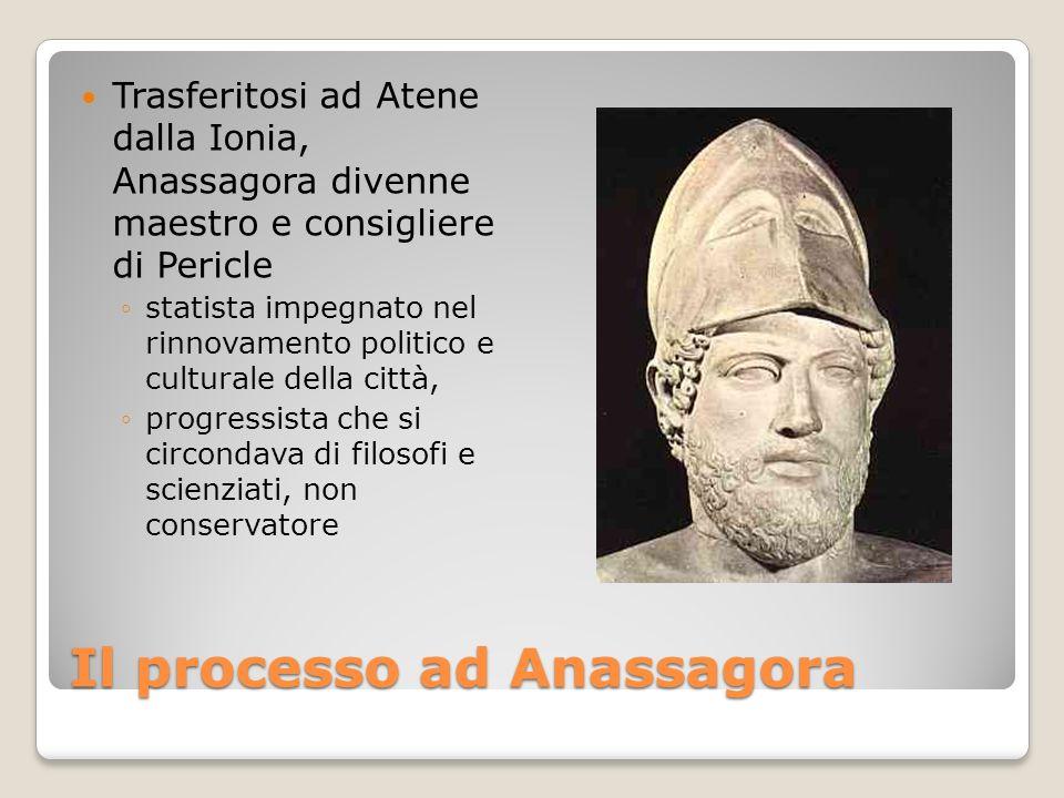 Trasferitosi ad Atene dalla Ionia, Anassagora divenne maestro e consigliere di Pericle statista impegnato nel rinnovamento politico e culturale della