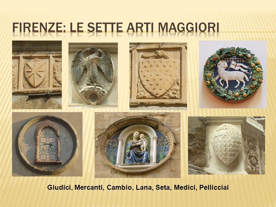 Giudici, Mercanti, Cambio, Lana, Seta, Medici, Pellicciai
