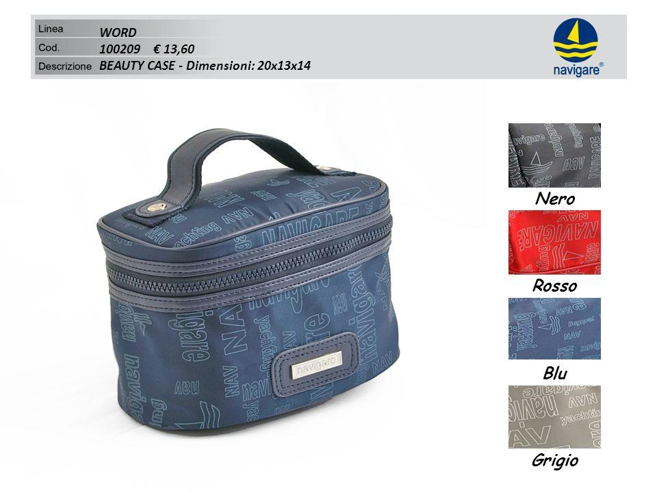 WORD 100209 13,60 BEAUTY CASE - Dimensioni: 20x13x14 Nero Rosso Blu Grigio