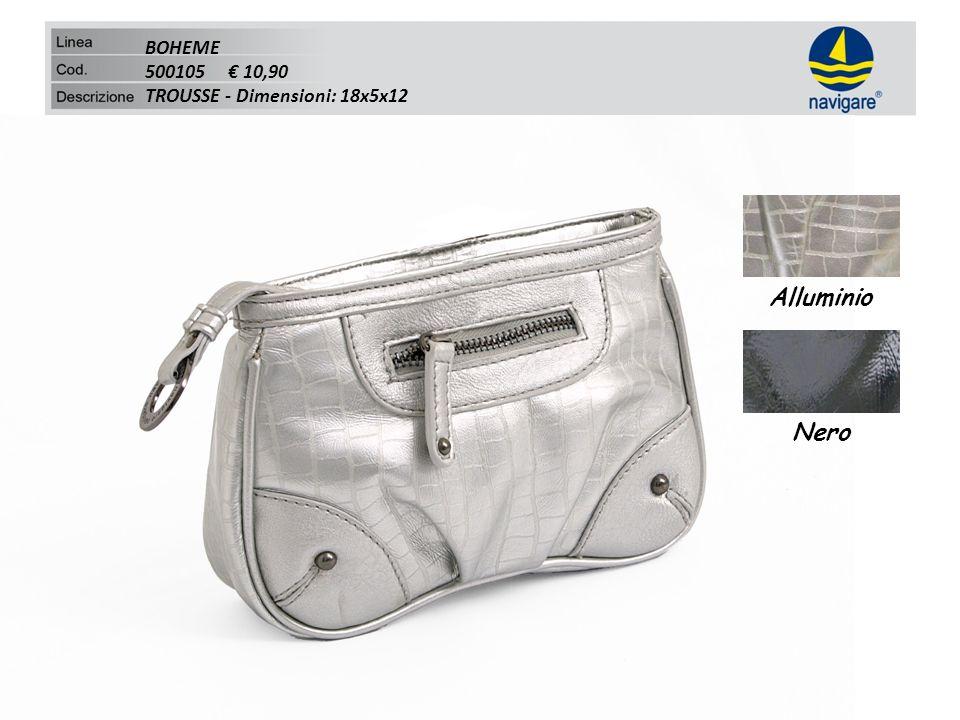 BOHEME 500105 10,90 TROUSSE - Dimensioni: 18x5x12 Alluminio Nero