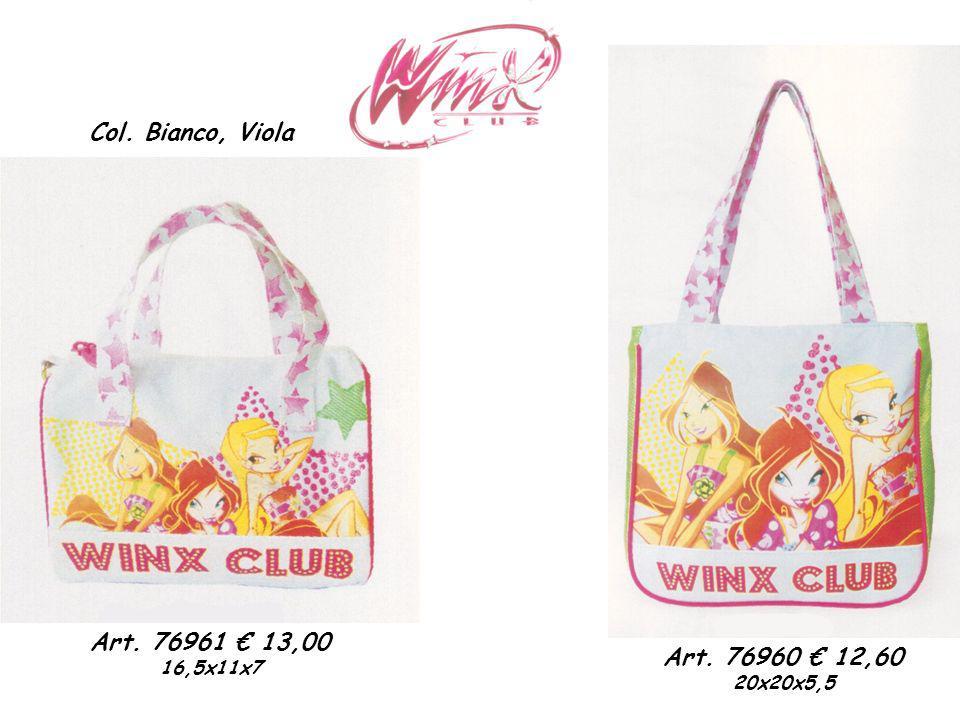 Col. Bianco, Viola Art. 76960 12,60 20x20x5,5 Art. 76961 13,00 16,5x11x7