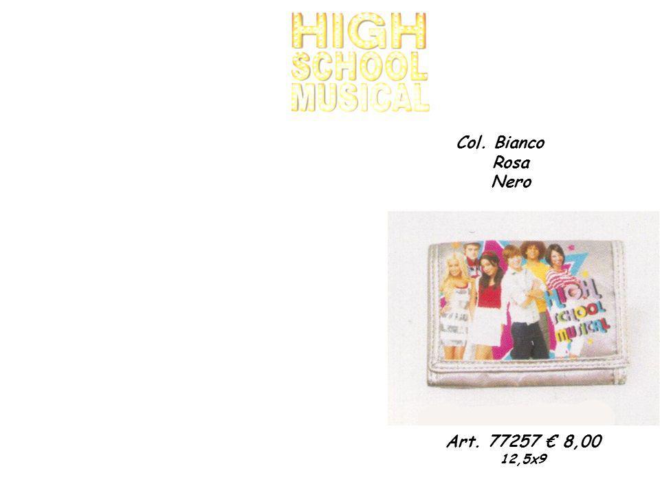 Art. 77257 8,00 12,5x9 Col. Bianco Rosa Nero