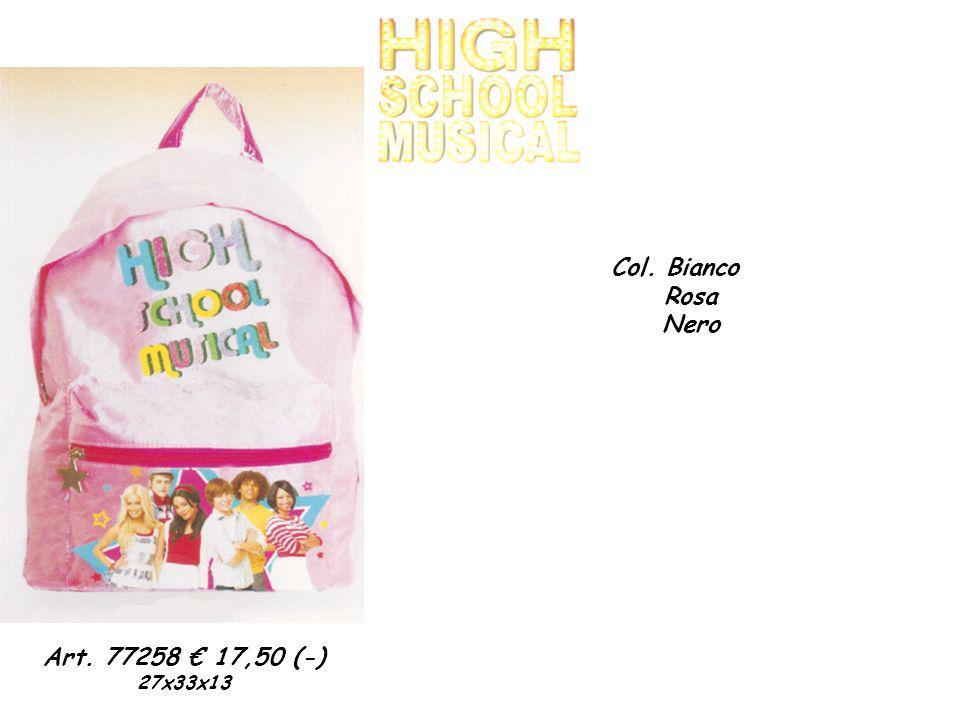 Art. 77258 17,50 (-) 27x33x13 Col. Bianco Rosa Nero
