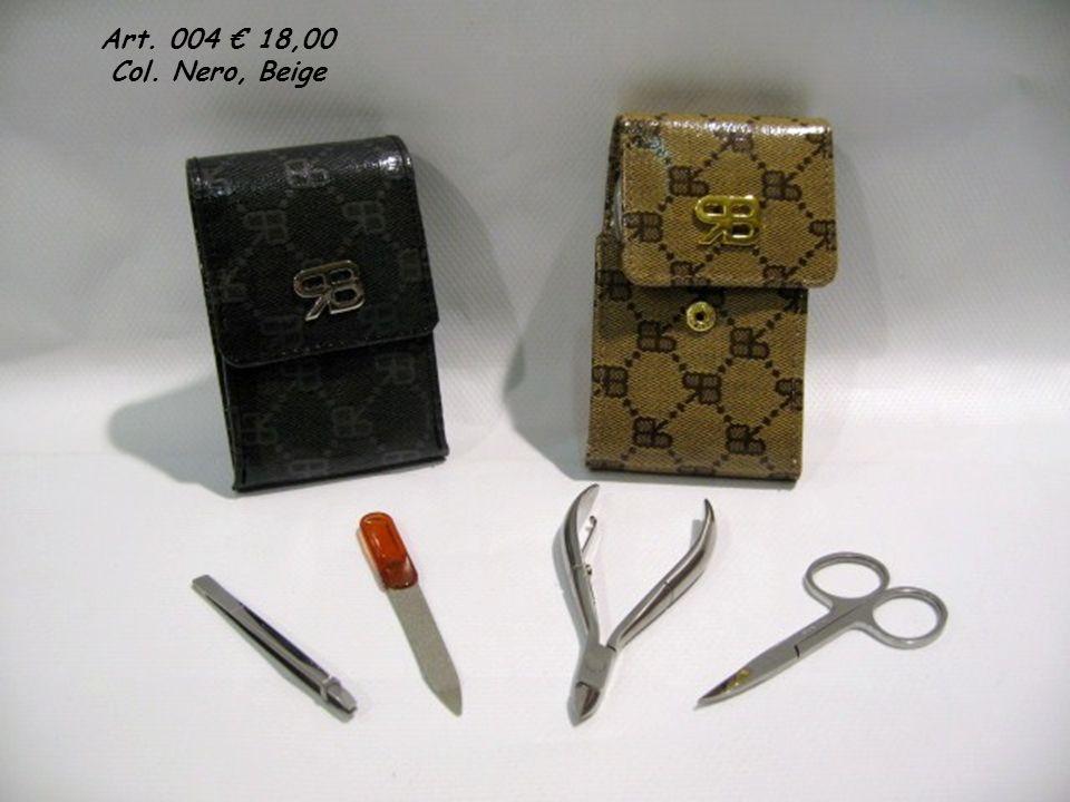 Art. 004 18,00 Col. Nero, Beige