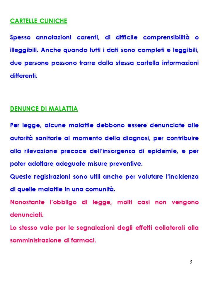 4 LE MALATTIE INFETTIVE SONO SUDDIVISE IN CLASSI DI NOTIFICA CLASSE 1.
