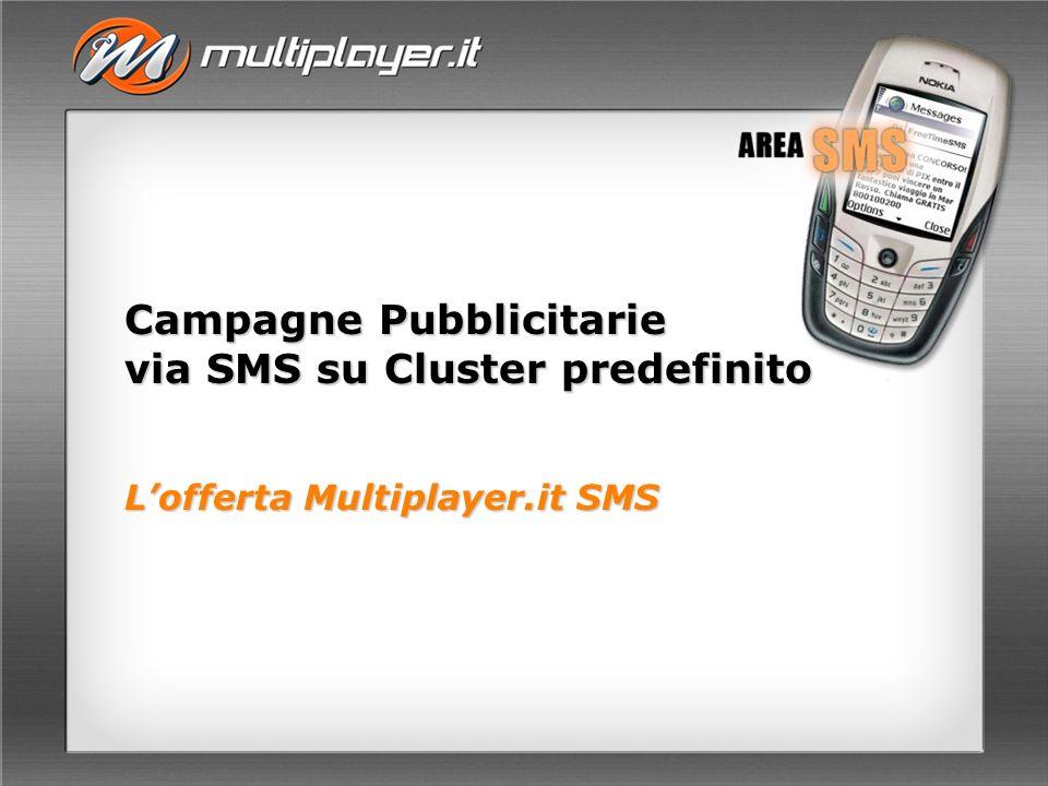 Campagne Pubblicitarie via SMS su Cluster predefinito Lofferta Multiplayer.it SMS