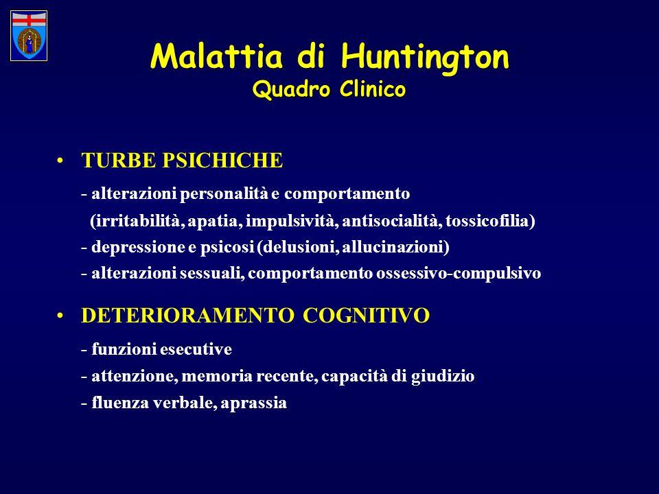 TURBE PSICHICHE - alterazioni personalità e comportamento (irritabilità, apatia, impulsività, antisocialità, tossicofilia) - depressione e psicosi (de