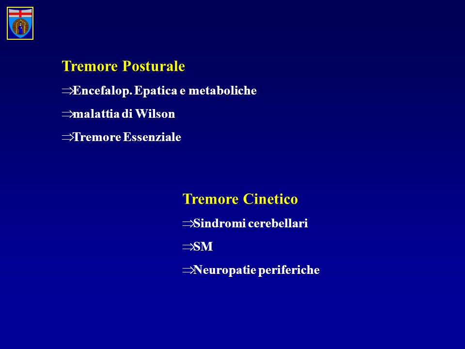 Tremore Posturale Encefalop.
