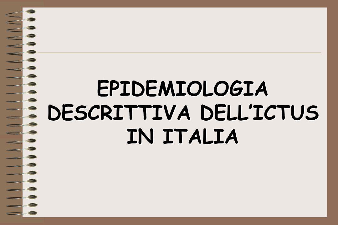 EPIDEMIOLOGIA DESCRITTIVA DELLICTUS IN ITALIA
