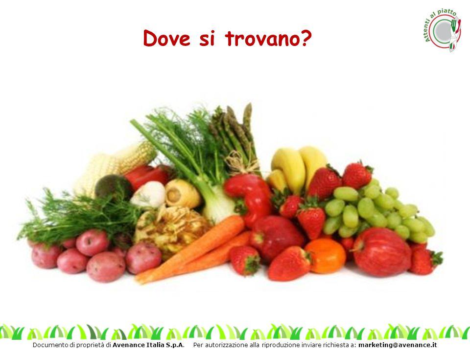 Documento di proprietà di Avenance Italia S.p.A. Per autorizzazione alla riproduzione inviare richiesta a: marketing@avenance.it Dove si trovano?