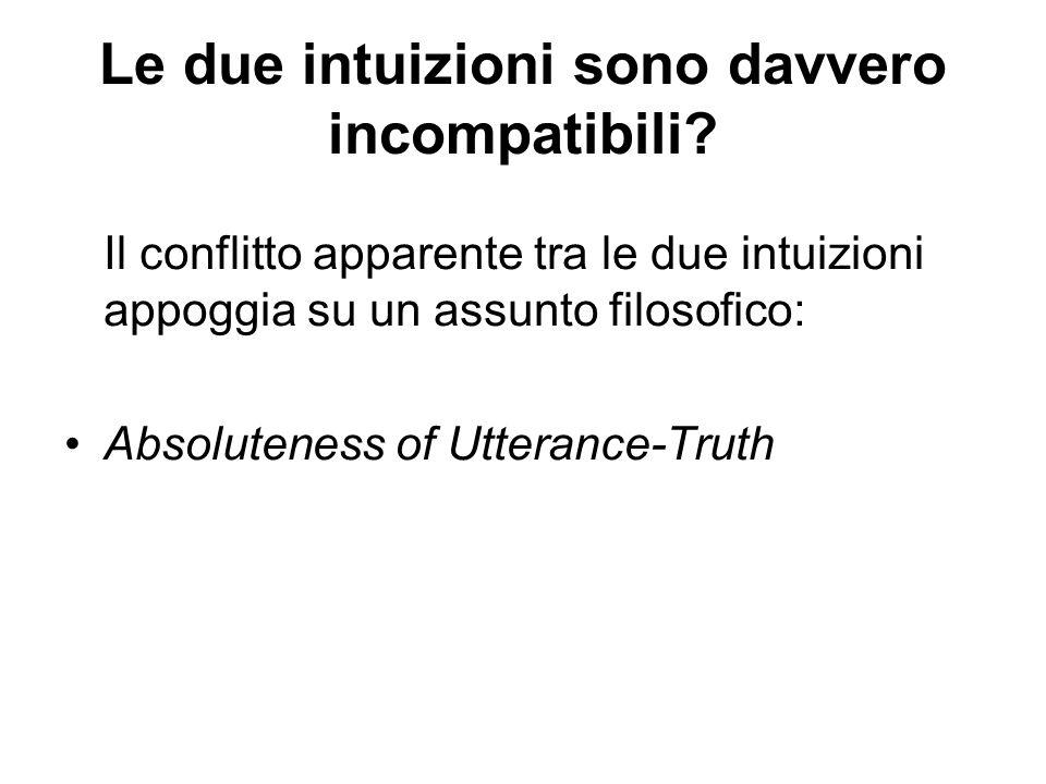 Le due intuizioni sono davvero incompatibili.