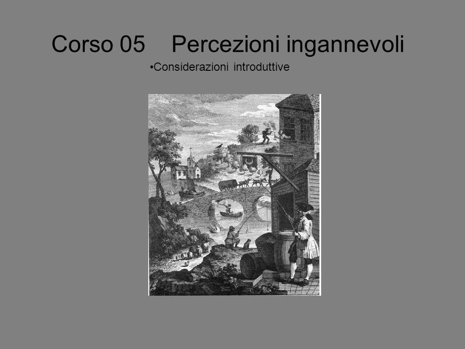 Corso 05 Percezioni ingannevoli Considerazioni introduttive