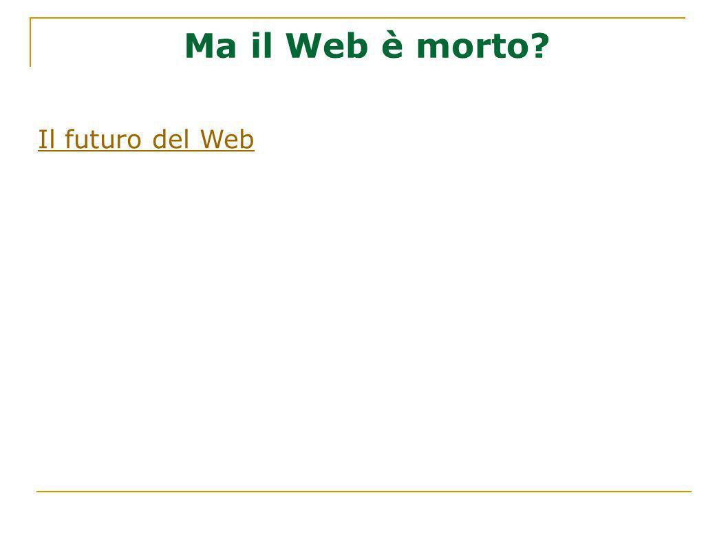 Ma il Web è morto? Il futuro del Web