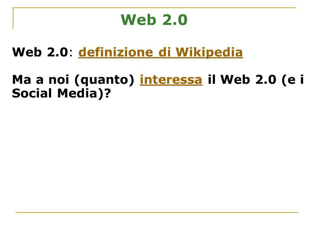 Strumenti 2.0: i Blog Abbreviazione di web log (registro di eventi) diari pubblico.