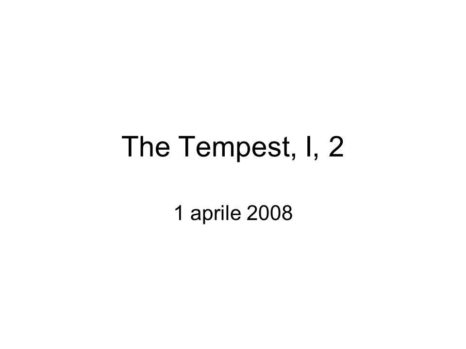 The Tempest, I,2 (Peter Brook, 1957) Caliban (Alec Clunes, left) cowering before Prospero (John Gielgud)