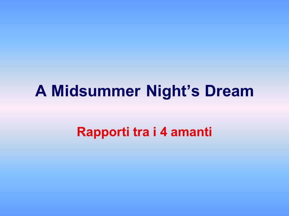 A Midsummer Nights Dream Rapporti tra i 4 amanti