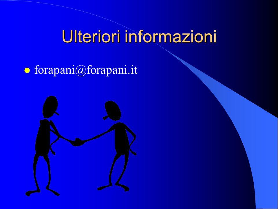 Ulteriori informazioni l forapani@forapani.it