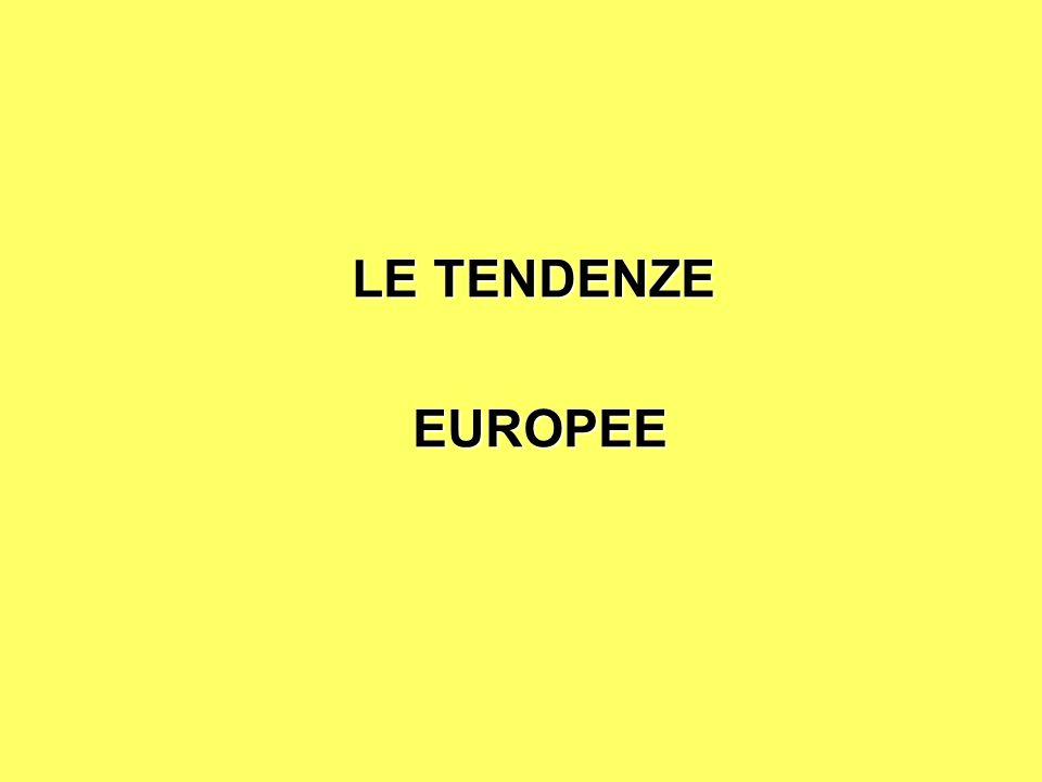LE TENDENZE EUROPEE EUROPEE