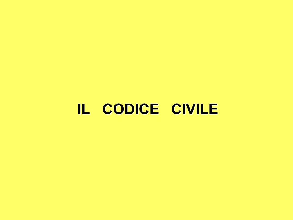 IL CODICE CIVILE