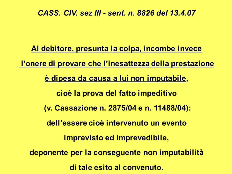 CASS.CIV. sez III - sent. n.