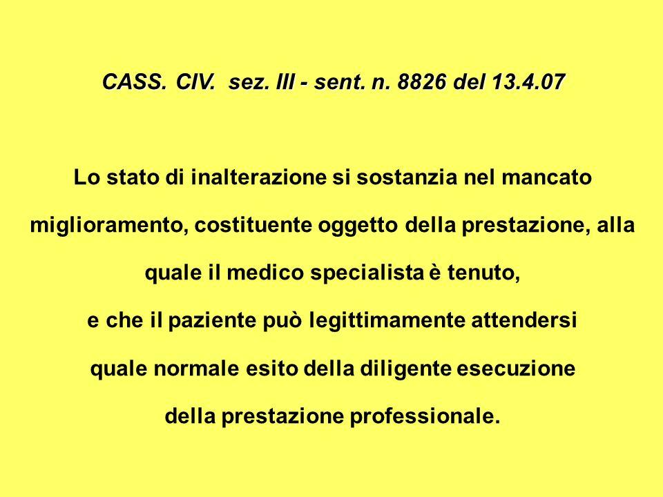 CASS.CIV. sez. III - sent. n.