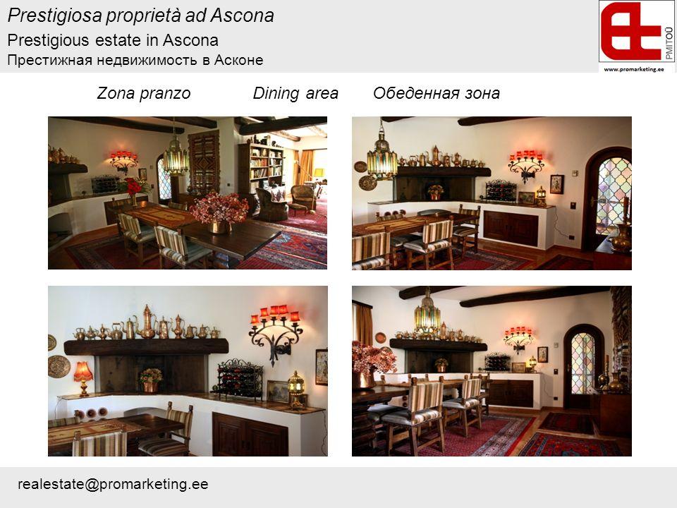 Zona pranzo Dining area Обеденная зона Prestigiosa proprietà ad Ascona Prestigious estate in Ascona Престижная недвижимость в Асконе realestate@promarketing.ee
