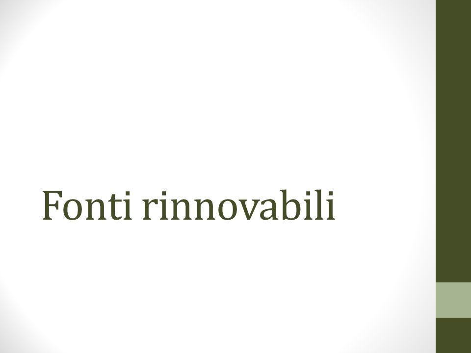 Origine dell energia elettrica utilizzata in Italia (Dati di esercizio del sistema elettrico nazionale, Terna 2011) Le fonti rinnovabili sono ancora poco sfruttate Tra le fonti rinnovabili la piu utilizzata e l acqua