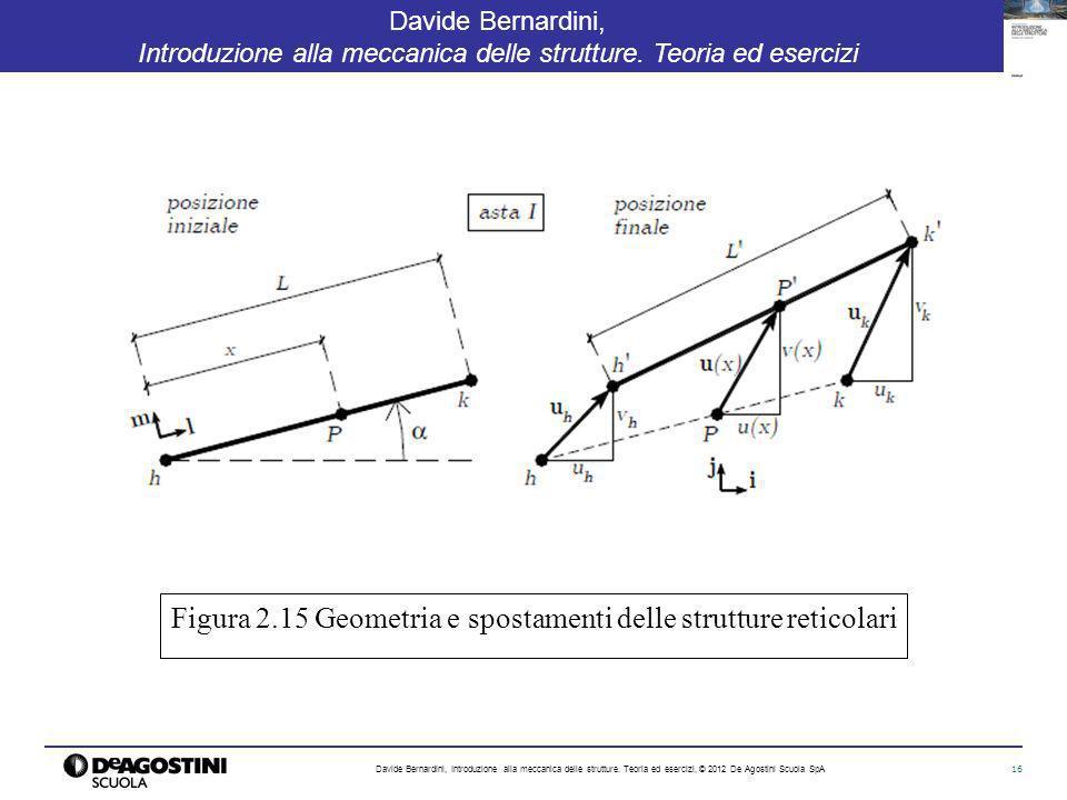 16 Davide Bernardini, Introduzione alla meccanica delle strutture. Teoria ed esercizi Davide Bernardini, Introduzione alla meccanica delle strutture.