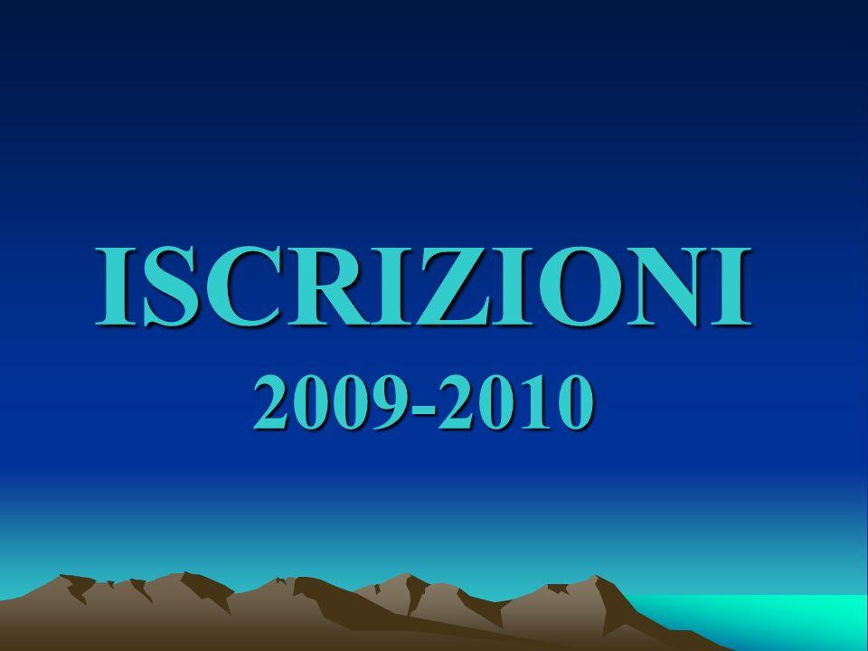 ISCRIZIONI 2009-2010