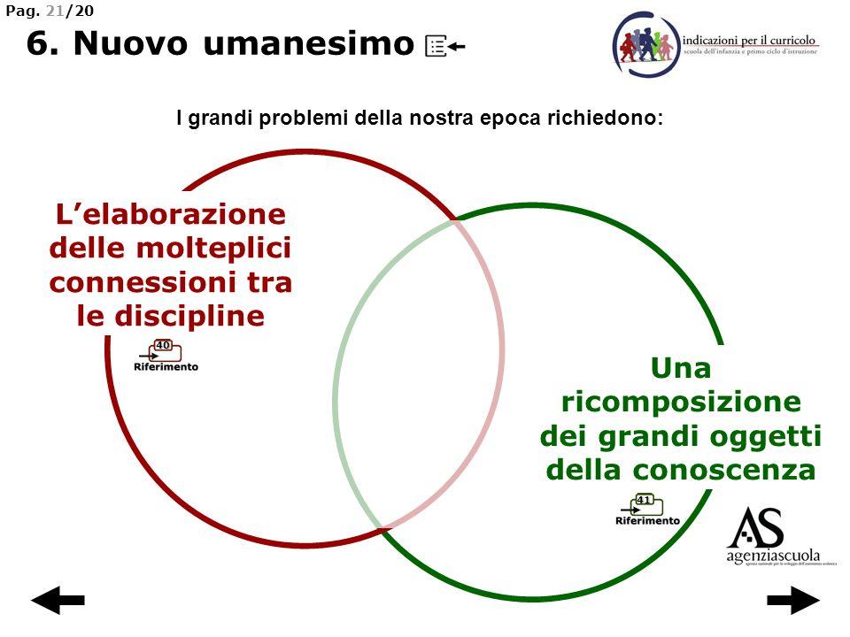 41 40 Lelaborazione delle molteplici connessioni tra le discipline Una ricomposizione dei grandi oggetti della conoscenza I grandi problemi della nost