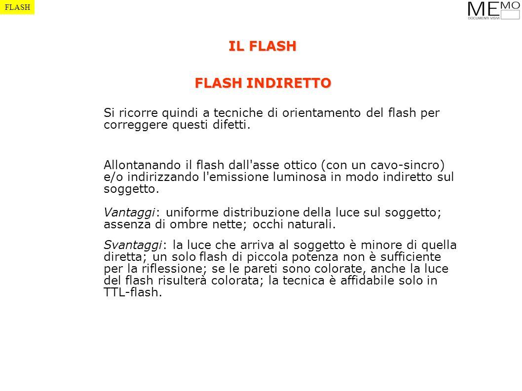 Si ricorre quindi a tecniche di orientamento del flash per correggere questi difetti. Allontanando il flash dall'asse ottico (con un cavo-sincro) e/o