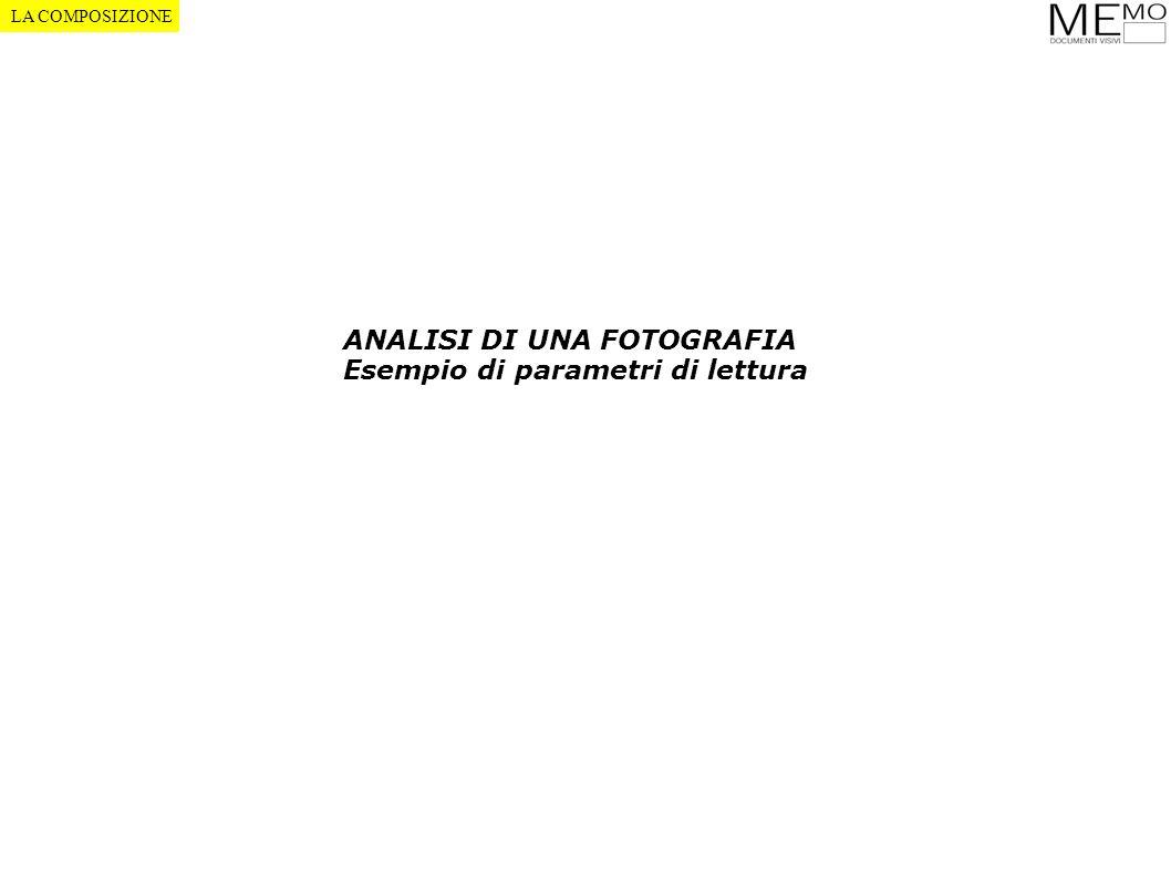 ANALISI DI UNA FOTOGRAFIA Esempio di parametri di lettura LA COMPOSIZIONE