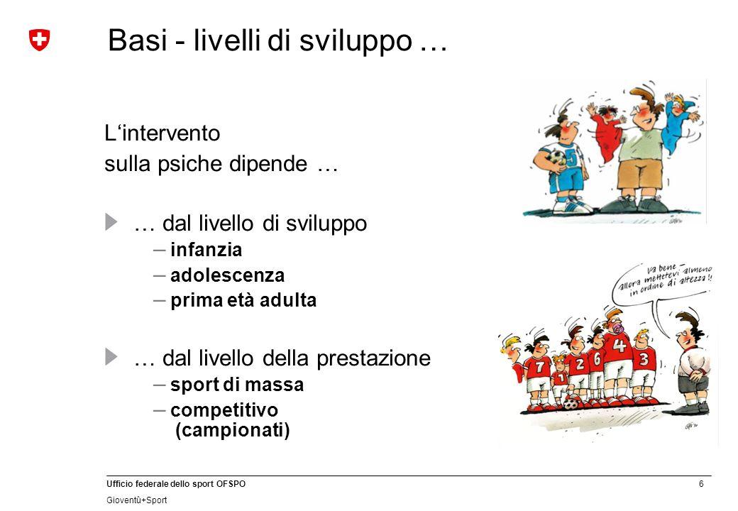 7 Ufficio federale dello sport OFSPO Gioventû+Sport Basi: contenuti e metodi dellallenamento mentale … Cosa.