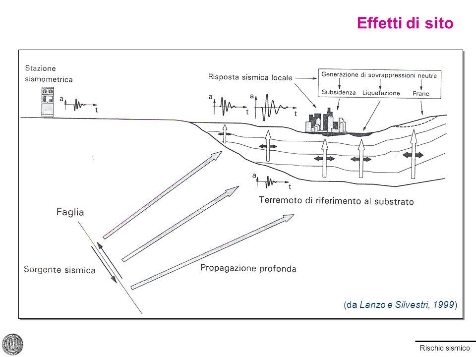 Rischio sismico V S media Casi particolari: studi speciali Effetti di sito: amplificazione stratigrafica Categoria suoloS A1.0 B, C, E1.25 D1.35 Categorie S1, S2 Analisi di risposta sismica locale