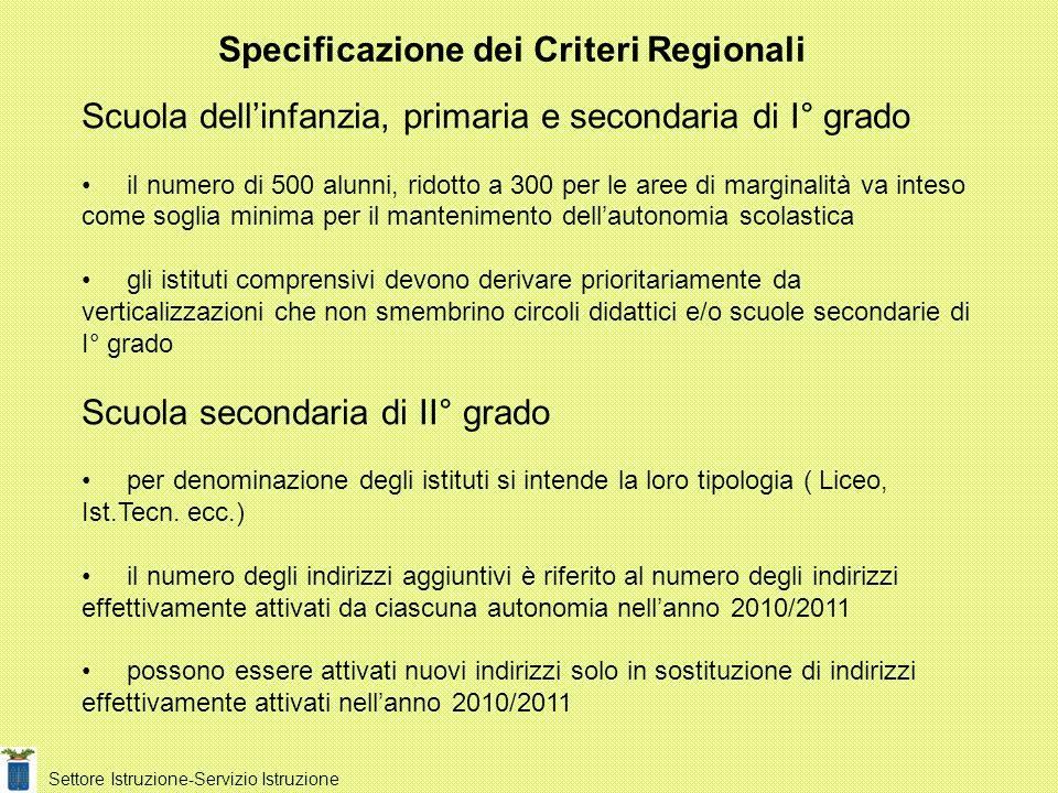 Da comunicazione dellUfficio Scolastico Territoriale e della Regione Piemonte è prevedibile una previsione per lanno scolastico 2011/2012 di ulteriore riduzione analoga a quella attuata per lanno scolastico 2010/2011.