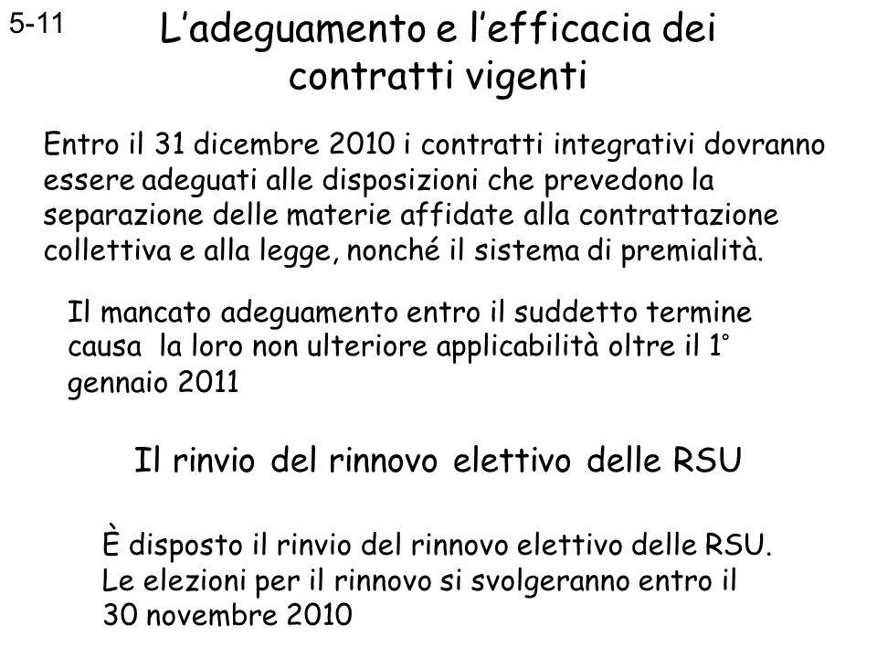 Il rinvio del rinnovo elettivo delle RSU È disposto il rinvio del rinnovo elettivo delle RSU. Le elezioni per il rinnovo si svolgeranno entro il 30 no