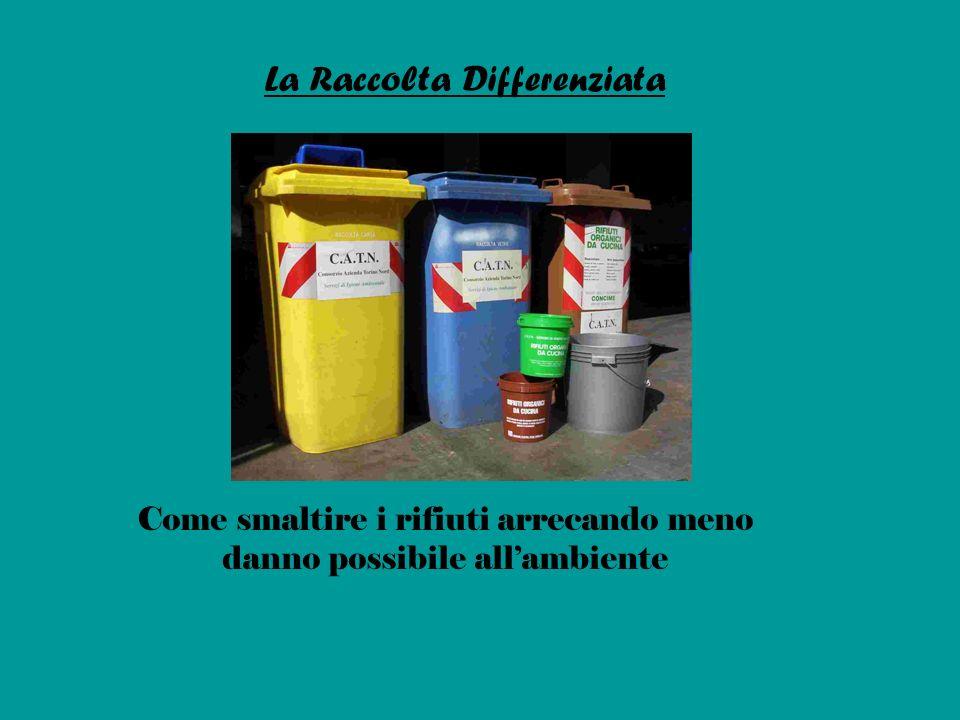 La Raccolta Differenziata Come smaltire i rifiuti arrecando meno danno possibile allambiente