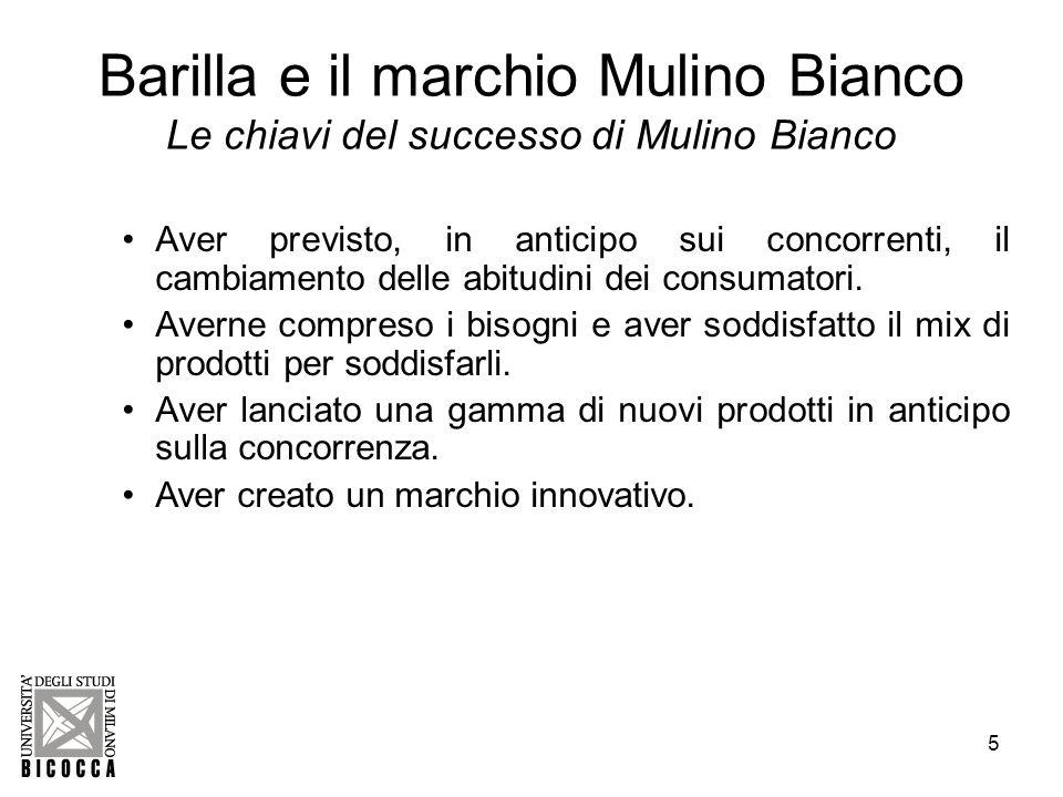 6 Barilla e il marchio Mulino Bianco La multinazionale Barilla Barilla è la prima marca in Italia e nel mondo per la pasta.
