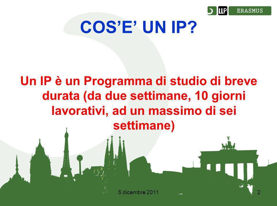 5 dicembre 20112 COSE UN IP.