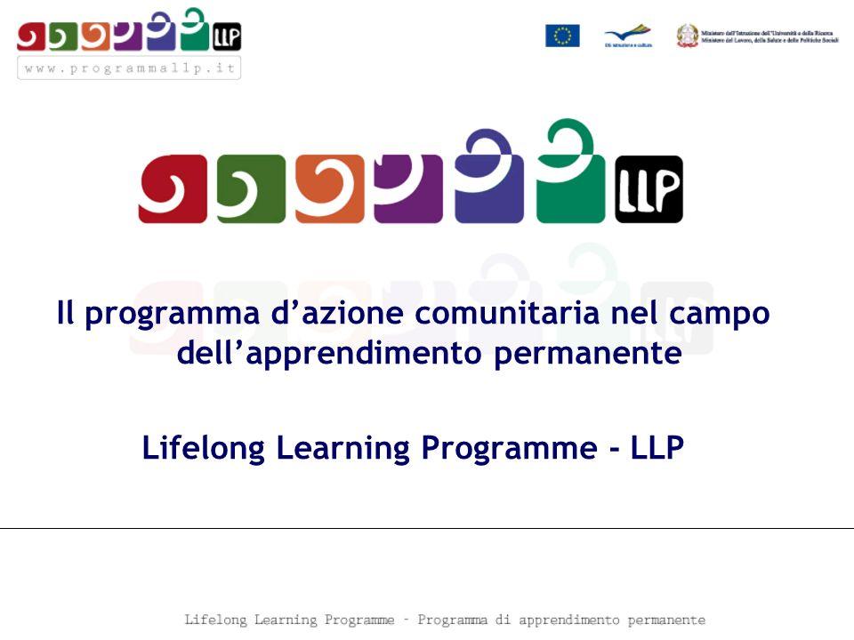 Il programma dazione comunitaria nel campo dellapprendimento permanente Lifelong Learning Programme - LLP