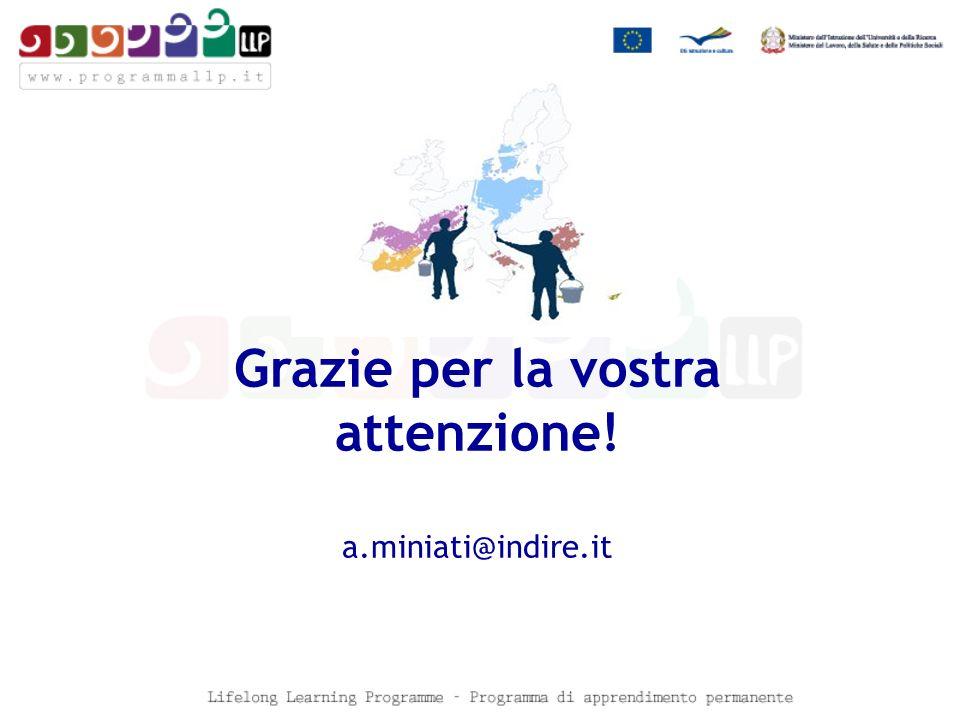 Grazie per la vostra attenzione! a.miniati@indire.it