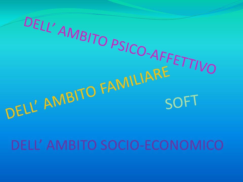 DELL AMBITO PSICO-AFFETTIVO DELL AMBITO FAMILIARE DELL AMBITO SOCIO-ECONOMICO SOFT
