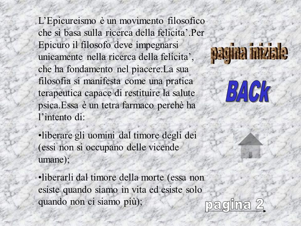Epicuro(341-270a.C.circa) nasce a Samo.Verso il 305 si reca ad Atene, dove fonda una scuola chiamata IL GIARDINO. Questa scuola accoglie persone di og