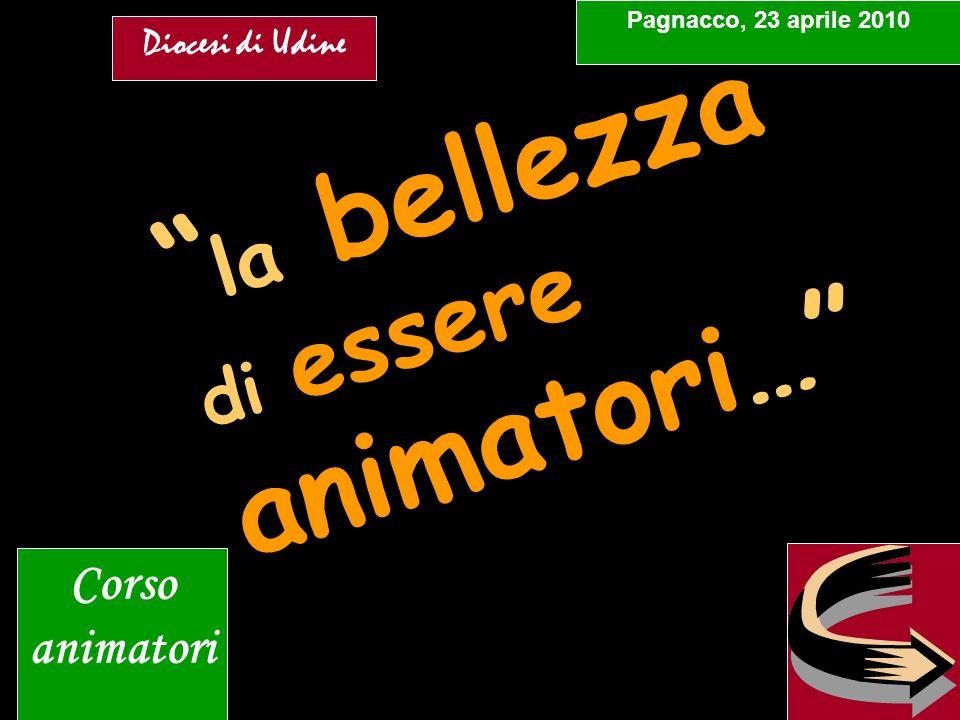 la bellezza di essere animatori… Pagnacco, 23 aprile 2010 Corso animatori Diocesi di Udine