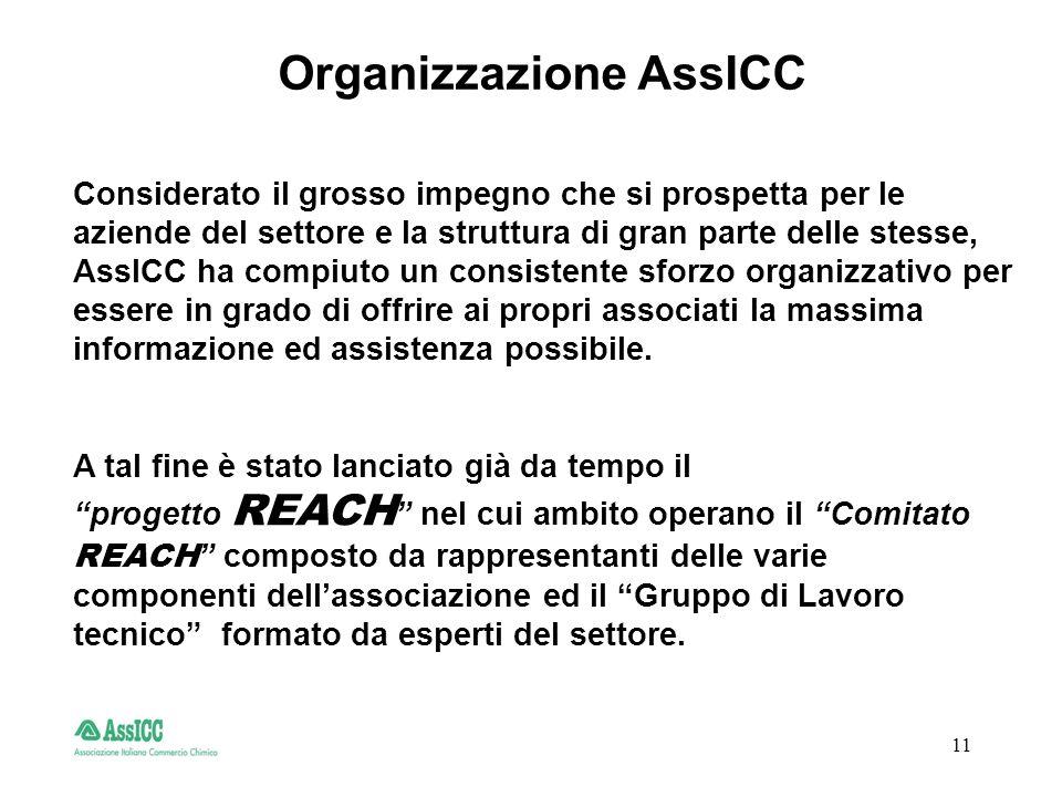 11 Organizzazione AssICC Considerato il grosso impegno che si prospetta per le aziende del settore e la struttura di gran parte delle stesse, AssICC ha compiuto un consistente sforzo organizzativo per essere in grado di offrire ai propri associati la massima informazione ed assistenza possibile.