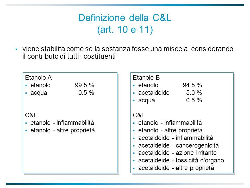 Definizione della C&L (art.