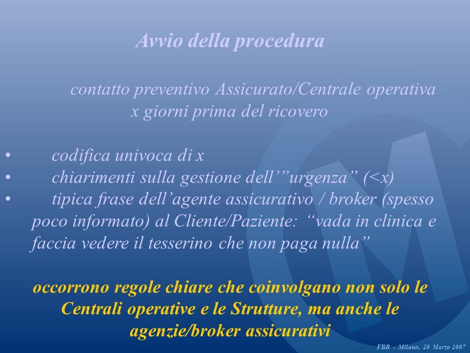 Autorizzazione della Centrale operativa (CO) la nuova procedura prevede che CO avvisi assicurato e equipe medica se tutto ok … ma la Struttura chi la avvisa .