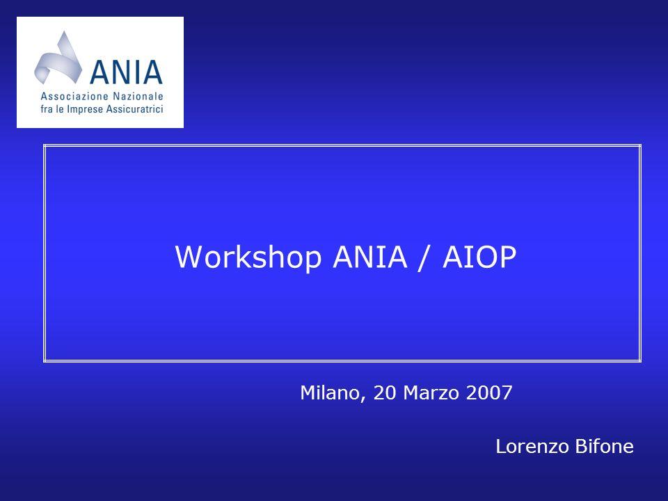 Workshop ANIA / AIOP Milano, 20 Marzo 2007 Lorenzo Bifone