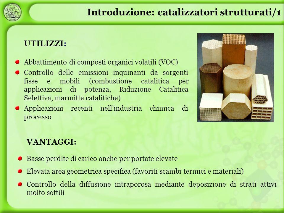 UTILIZZI: Abbattimento di composti organici volatili (VOC) Controllo delle emissioni inquinanti da sorgenti fisse e mobili (combustione catalitica per