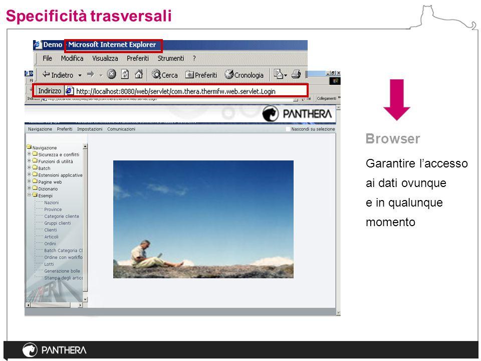 Garantire laccesso ai dati ovunque e in qualunque momento Browser Specificità trasversali